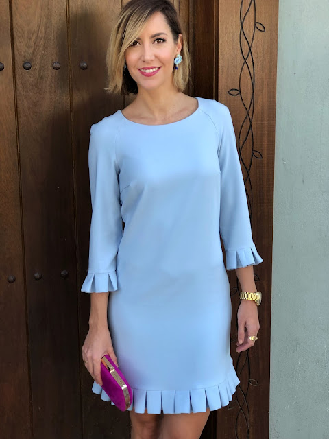 Fitness And Chicness-Baby Blue Dress Haute Rent-4