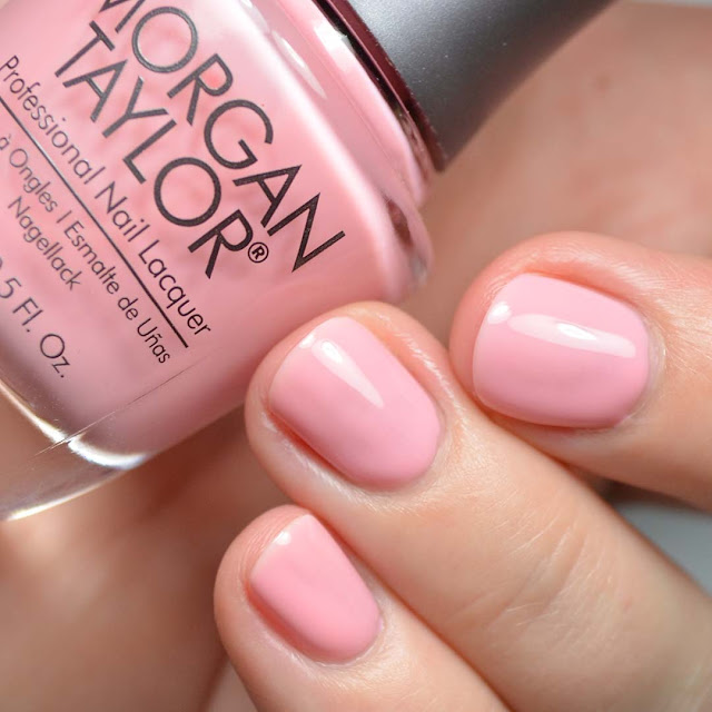 pale pink nail polish swatch