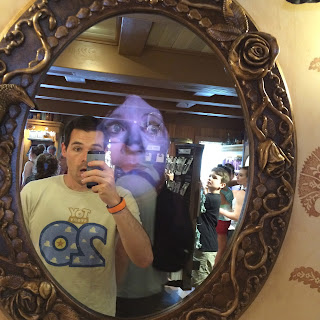 haunted mansion Memento Mori mirror