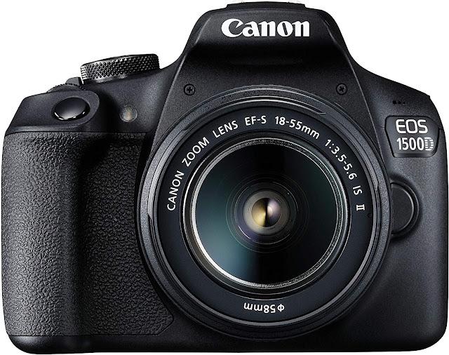 Canon EOS 1500D 24.1 Digital SLR Camera (Black)