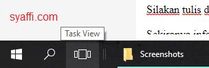 33. Taskview pada Taskbar windows 10 syaffi com