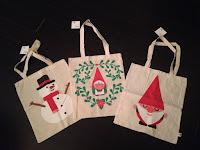 Tote bags décor Noël TIGER