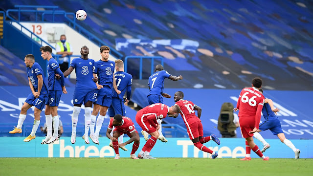Trent Alexander Arnold scores freekick vs Chelsea