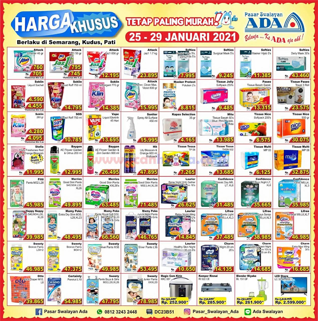 Promo Katalog Ada Swalayan Weekday Harga Khusus 25 - 29 Januari 2021 2