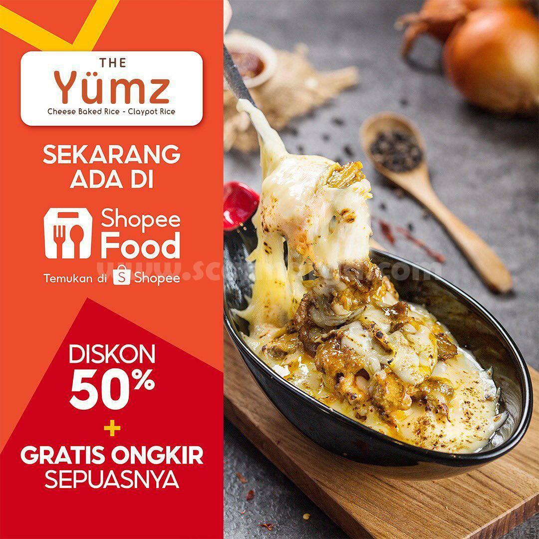 THE YUMZ Promo DISKON 50% + GRATIS ONGKIR via Shopee Food