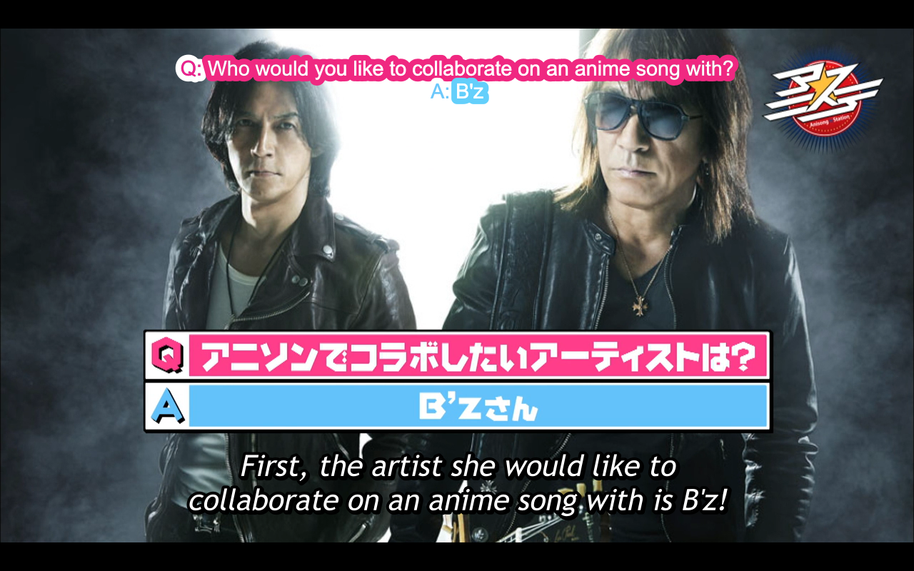 Ms chihara answered that she would love to collaborate on an anime song with bz they did the songs for hell teacher nube and case closed