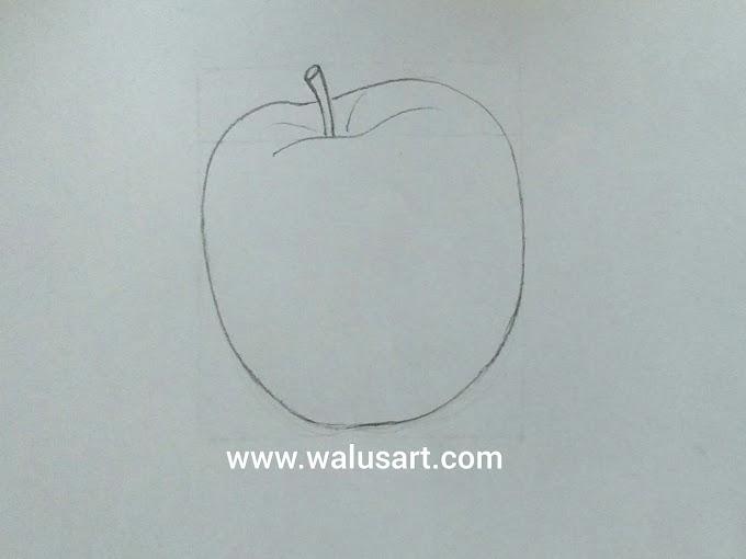Cara Menggambar Apel (Tahap 1)