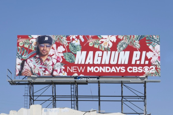 Magnum PI TV remake billboard
