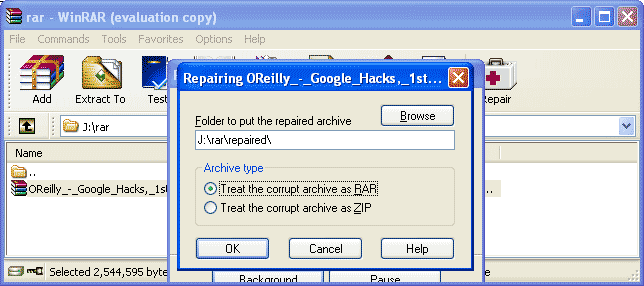 Repair Zip File Winrar