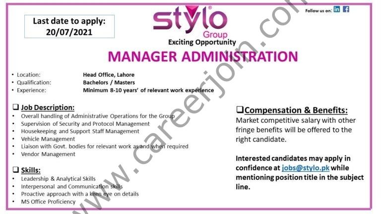 jobs@stylo.pk - Stylo Pvt Ltd Jobs 2021 in Pakistan