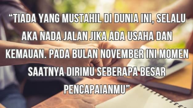 Kata Mutiara Bulan November
