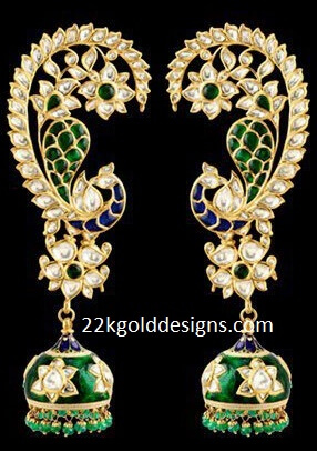 Full Kaan Earrings 22kgolddesigns
