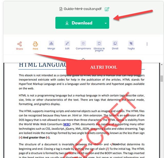 modifica pdf con tool online