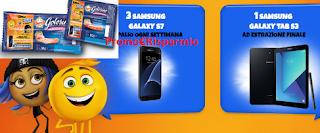 Logo Golosino Negroni & Emoji : vinci 60 Samsung Galaxy S7 e Tablet Samsung Galaxy Tab S3