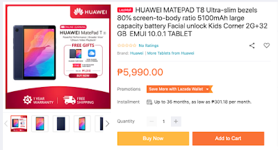 Huawei MatePad T8 Available