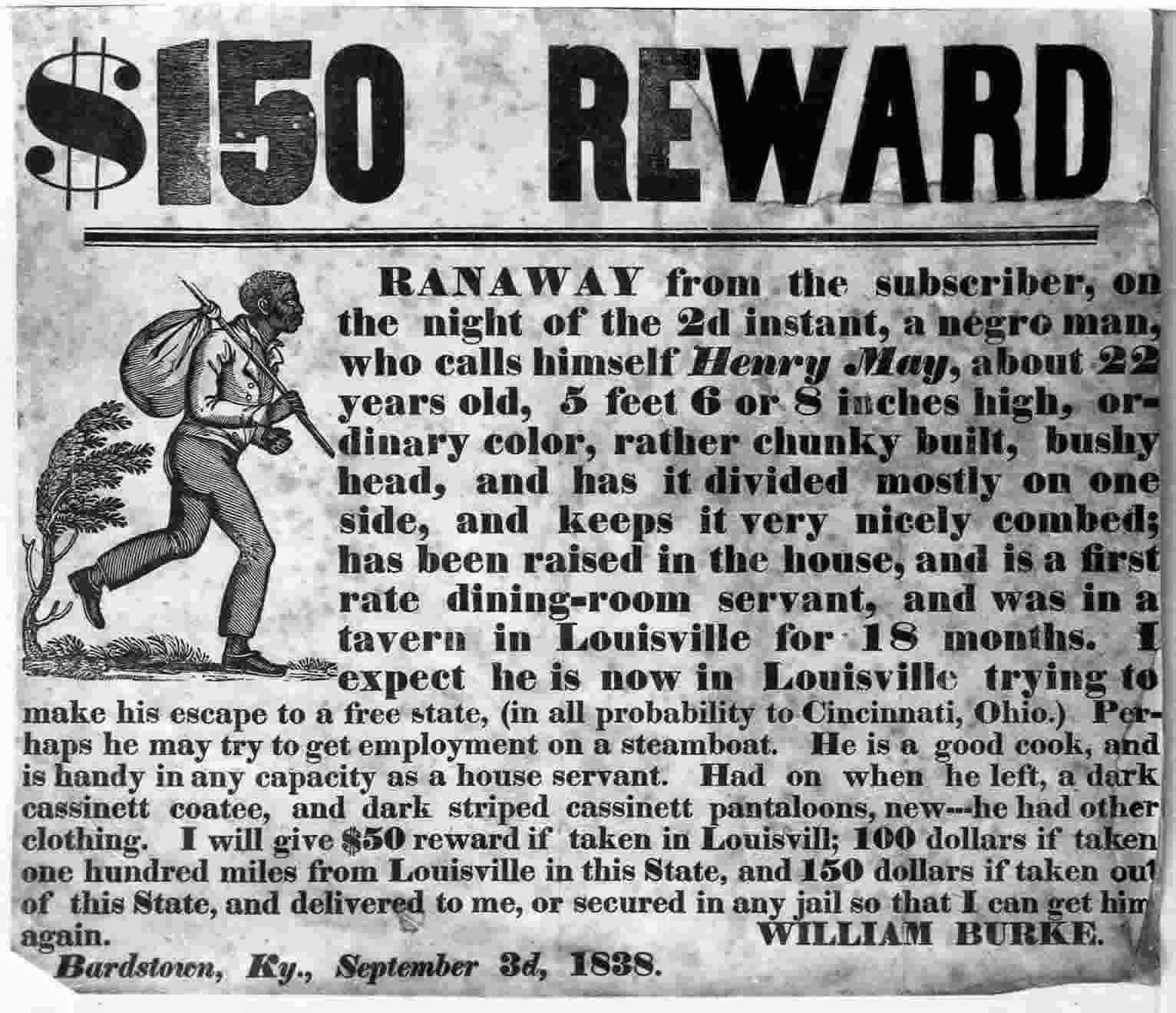 Advertisement for Runaway Slaves, 11 August 1761