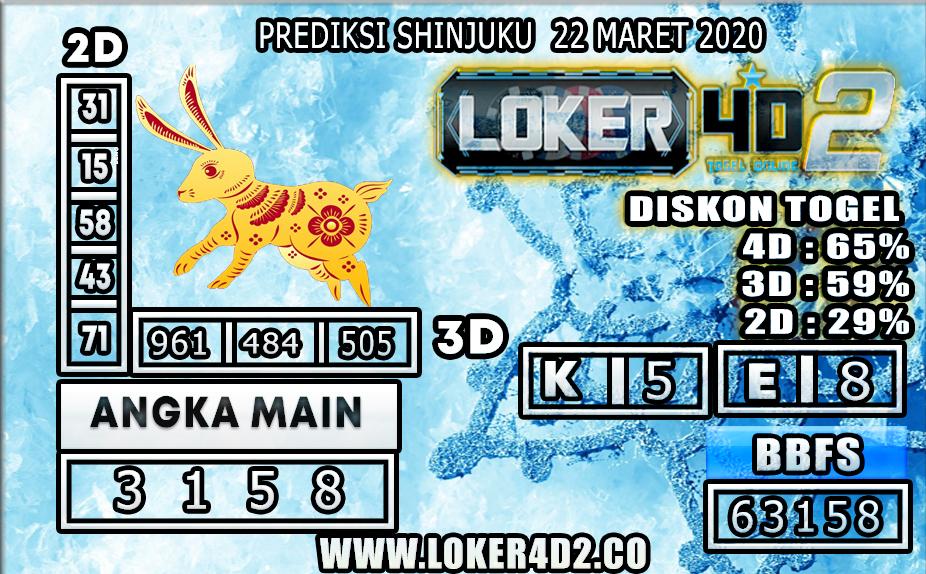 PREDIKSI TOGEL SHINJUKU LUCKY 7 LOKER 4D2 22 MARET 2020