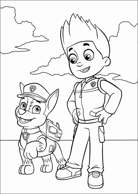 Paw patrol coloring pages 38