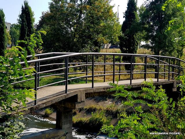 potok mostek Warszawa Warsaw Mokotów park parki teren zielony Dolinka Służewiecka drzewa