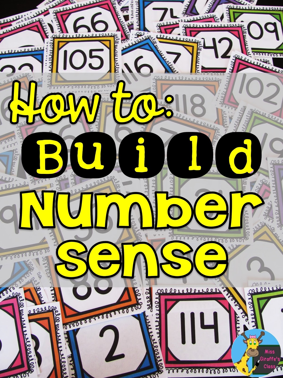 Miss Giraffe's Class: Building Number Sense in First Grade [ 1600 x 1200 Pixel ]