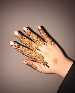 eid finger mehndi desig