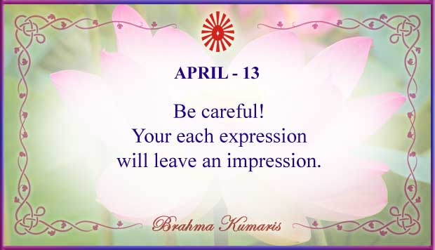 Thought For The Day April 13