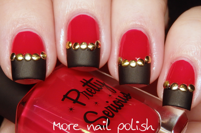 Digital Dozen does Vampy: Day 5: Red, black and gold ~ More Nail Polish