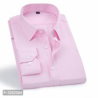 Cotton Blend Solid Formal Shirts For Men