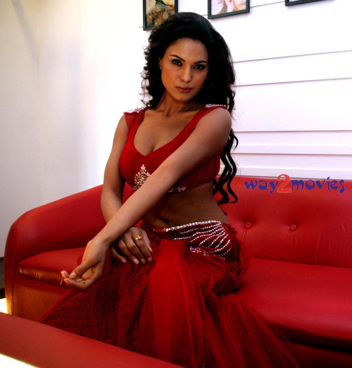 Hot Blog Post: Sexy Veena Malik In A Hot Red Saree Photoshoot