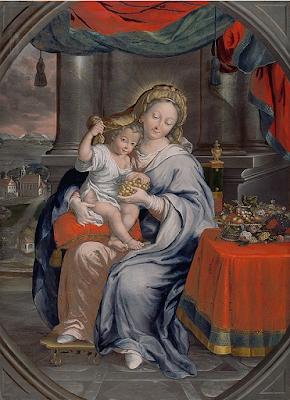 Maria mit dem Jesuskind vor Mariazell (1755), Anna Maria Babara Abesch