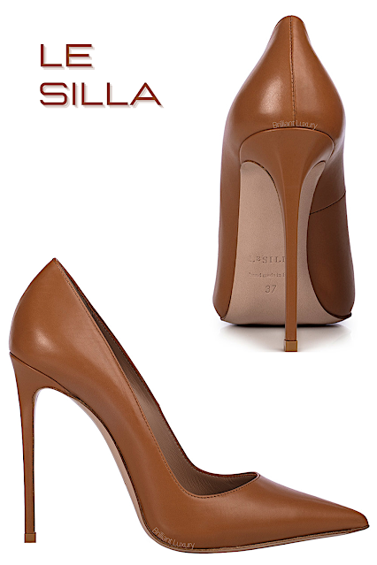 Le Silla Eva light brown leather pump #lesilla #shoes #brilliantluxury