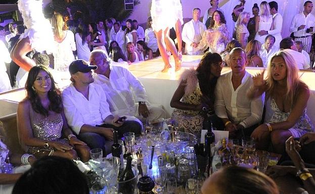 Actor Leonardo DiCaprio, en Billionaire Club en Monaco