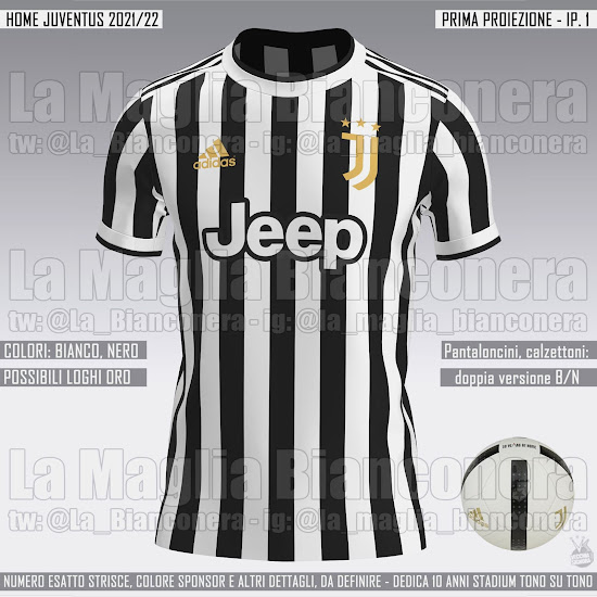 A merced de Andes Extremadamente importante  LEAKED: Juventus 21-22 Home Kit Prediction: Pays Homage to Allianz Stadium  with Classic Design - Footy Headlines