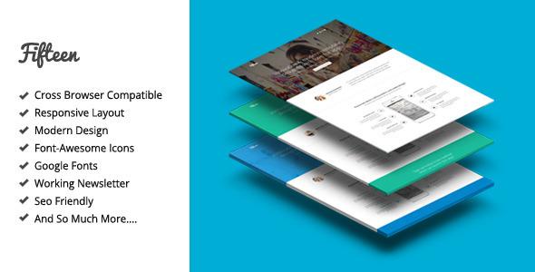 Download Fifteen Responsive Landing Page Template