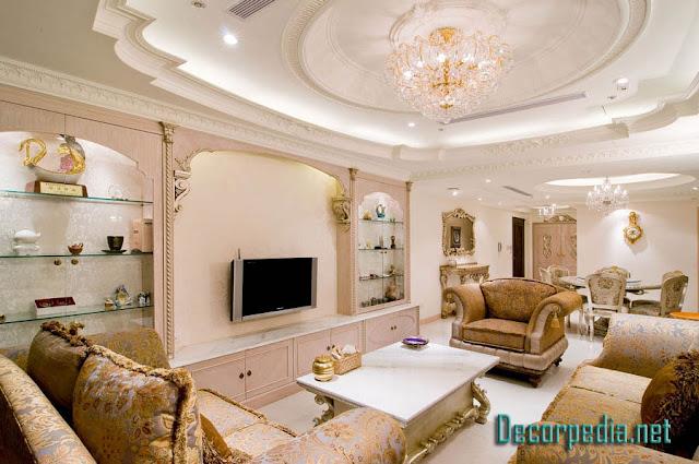 pop design, pop false ceiling design for living room and hall, luxury ceiling