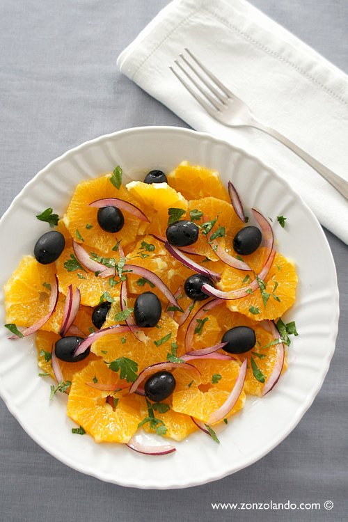 Insalata di arance tipica italiana ricetta vegana - traditional italian orange salad vegan