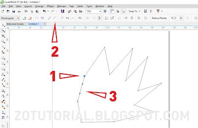 Membuat Bentuk Objek Dengan Mudah Menggunakan CorelDraw X7