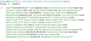 Pembuatan Security Profile Baru