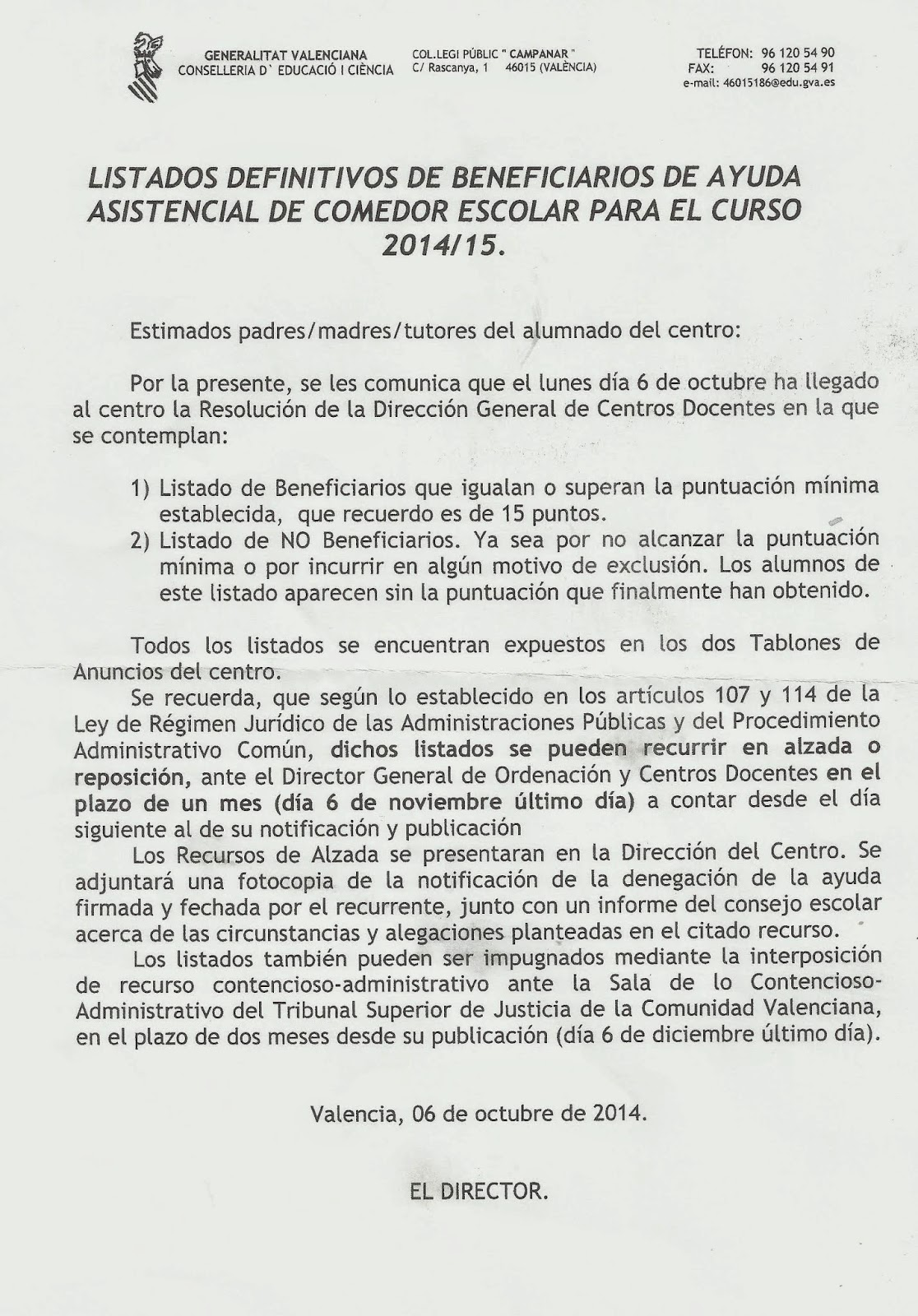 Comedor Escolar Valencia Beca | El Pp Cifra En 200 Millones Un ...