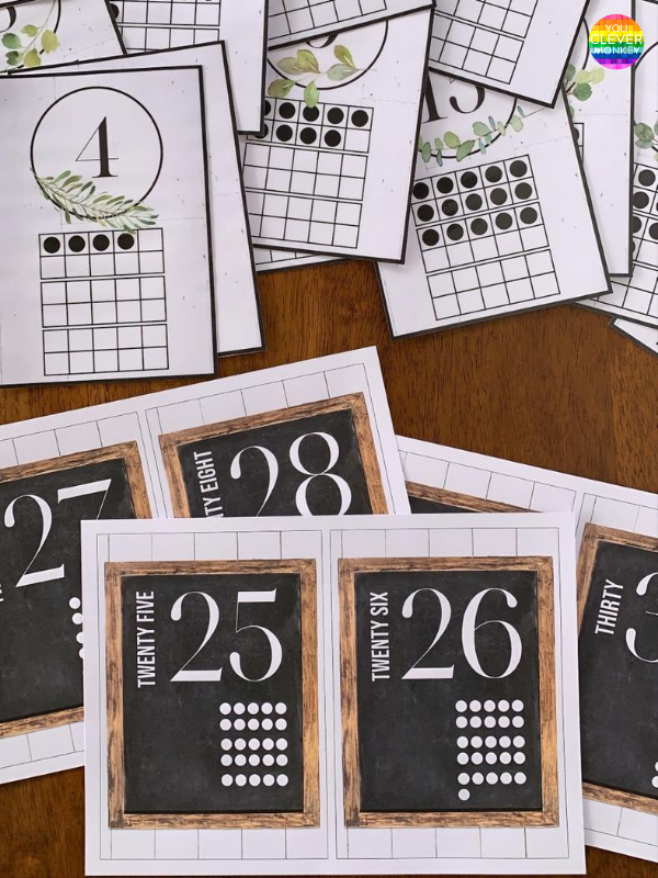 MODERN FARMHOUSE Number Posters   you clever monkey