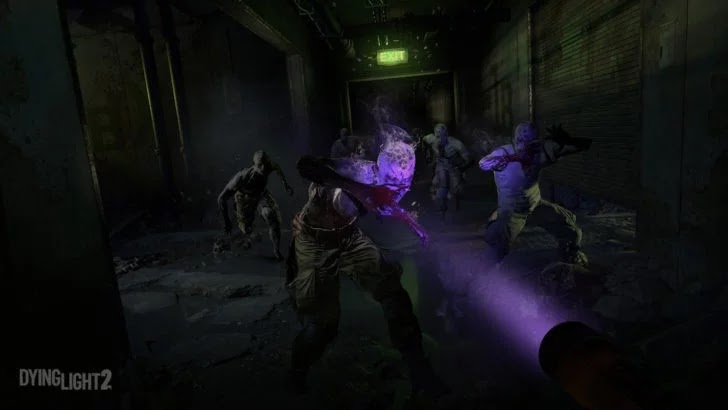 zombies with uv light in dying light 2