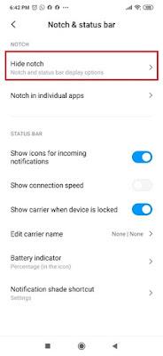 Cara Mudah Modif Notch di Redmi Note 8