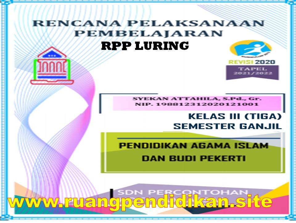 RPP Luring 1 Lembar PAI dan BP Kelas 3 SD/MI