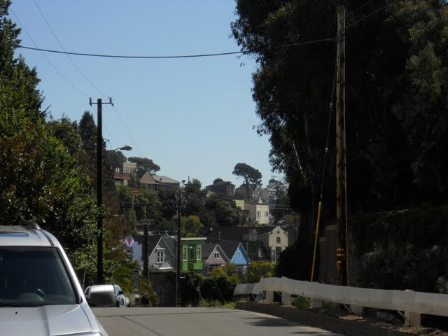Hilly street in Potrero Hill