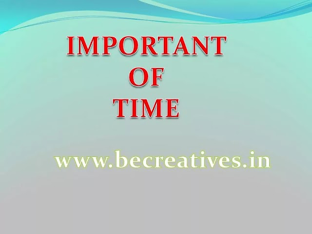 what is the importance of time?