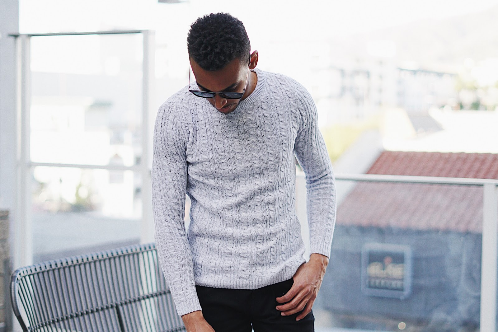 sweaters, knitwear, mens fashion blogger, how to style, for men, sweater for men, affordable, fashion guide, trends, fashion trends, 2018 winter fashion, California, la blogger, quay, asos sweater, quay sunglasses for men, quay Australia, asos shoes, asos jeans, Pinterest, ootd Inspo, cable knit sweater