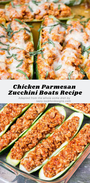 Chicken Parmesan Zucchini Boats Recipe