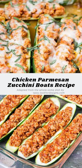 Chicken Parmesan Zucchini Boats Recipe