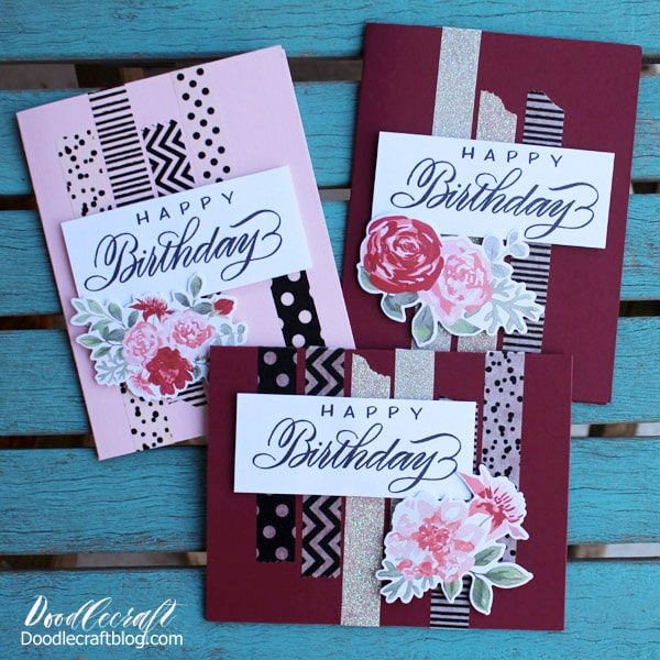 Ctmh Penmanship With Melissa Esplin Stamped Birthday Cards