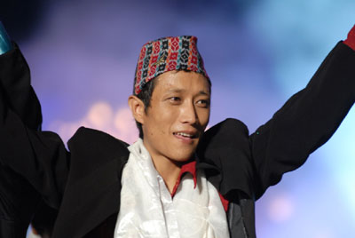 Prashant Tamang, the 2007 winner of the reality show Indian Idol,